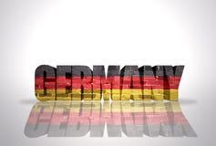 Palabra Alemania en el fondo blanco ilustración del vector