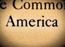 Palabra América fotos de archivo libres de regalías