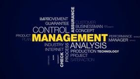 Palabra animada del sistema del control del éxito de la certificación de la estrategia de organización de la empresa de la garant metrajes