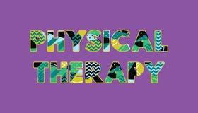 Palabra Art Illustration del concepto de la terapia física libre illustration
