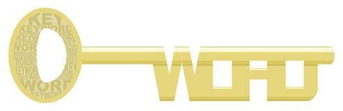 Palabra clave de oro stock de ilustración
