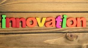 Palabra colorida de la innovación Foto de archivo libre de regalías