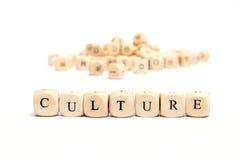 Palabra con la cultura de los dados Imagen de archivo libre de regalías