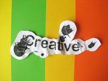 Palabra creativa cortada del papel Imagen de archivo libre de regalías