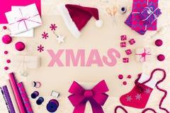 Palabra creativa de la Navidad Imágenes de archivo libres de regalías