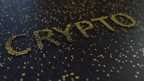 Palabra CRYPTO hecha de mover números de oro libre illustration