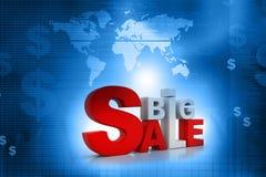 palabra 3d de la venta grande stock de ilustración