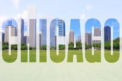 Palabra de Chicago fotos de archivo