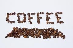 Palabra de Coffe Foto de archivo libre de regalías