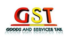Palabra de GST en el ejemplo 3d Imagenes de archivo