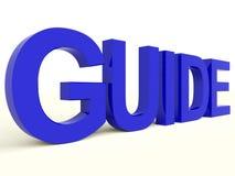 Palabra de guía como símbolo para la dirección o el entrenamiento Imagenes de archivo