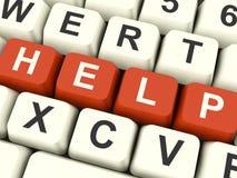 Palabra de la ayuda como símbolo para la ayuda y el consejo imágenes de archivo libres de regalías