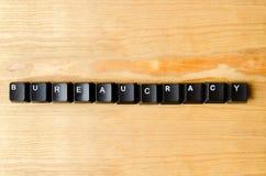 Palabra de la burocracia Fotos de archivo libres de regalías
