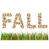 palabra de la caída Foto de archivo