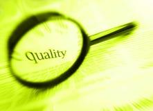 Palabra de la calidad Imágenes de archivo libres de regalías