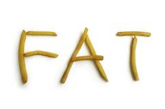 Palabra de la comida Imagen de archivo