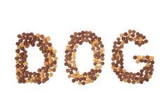 Palabra de la comida de perro Imagenes de archivo