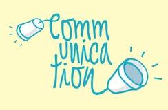 Palabra de la comunicación como cable Fotografía de archivo libre de regalías
