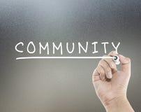 Palabra de la comunidad Imagen de archivo libre de regalías