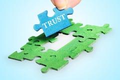 Palabra de la confianza Imágenes de archivo libres de regalías