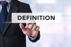 Palabra de la DEFINICIÓN, concepto del negocio imagenes de archivo