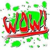 Palabra de la explosión del wow Imágenes de archivo libres de regalías