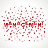 Palabra de la gestión con en alfabetos Fotos de archivo libres de regalías