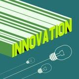 Palabra de la innovación Fondo abstracto con 3D ilustración del vector