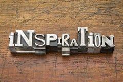 Palabra de la inspiración en tipo del metal imagenes de archivo