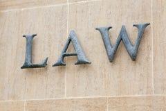 Palabra de la ley Imagen de archivo libre de regalías