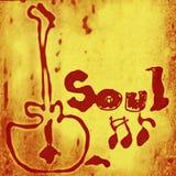 Palabra de la música del alma Imagen de archivo libre de regalías