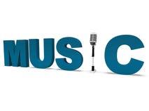 Palabra de la música y Musical o talento del concierto de las demostraciones del micrófono Foto de archivo libre de regalías