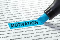 Palabra de la motivación destacada con el marcador fotos de archivo libres de regalías