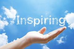 """palabra de la nube del  del """"inspiring†Foto de archivo"""
