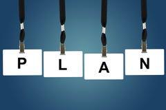 Palabra de la planificación financiera Foto de archivo