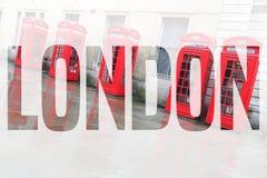 Palabra de la postal de Londres Fotos de archivo