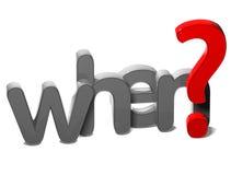 palabra de la pregunta 3D cuando en el fondo blanco ilustración del vector