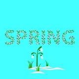 Palabra de la primavera ilustración del vector