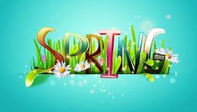 Palabra de la primavera Fotos de archivo libres de regalías