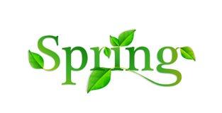 Palabra de la primavera Foto de archivo