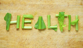 Palabra de la salud Fotos de archivo