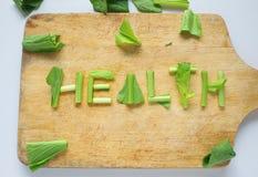 Palabra de la salud Fotografía de archivo