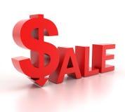 Palabra de la venta con la muestra de dólar Fotos de archivo