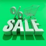 palabra de la venta 3d con la sombra libre illustration