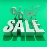 palabra de la venta 3d con la sombra ilustración del vector