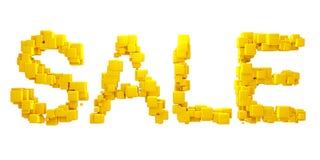 Palabra de la venta de los cubos Imágenes de archivo libres de regalías