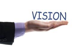 Palabra de la visión Fotografía de archivo