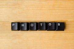Palabra de las fotos foto de archivo
