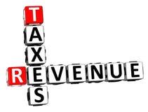 palabra de los impuestos de ingresos del crucigrama de la representación 3D sobre el fondo blanco ilustración del vector