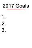 Palabra de 2017 metas en el fondo blanco imagen de archivo libre de regalías